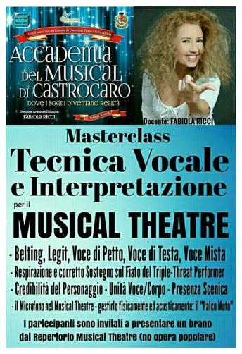 Foto MASTERCLASS Tecnica Vocale per il Musical Theatre