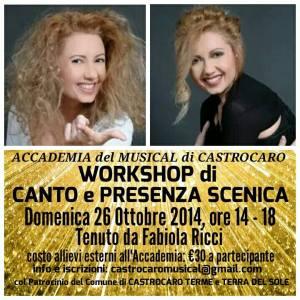 Foto WORKSHOP CANTO e PRESENZA SCENICA