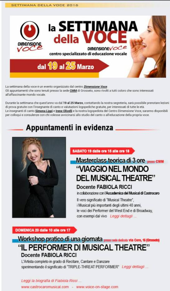 Grosseto Workshop Marzo 2016