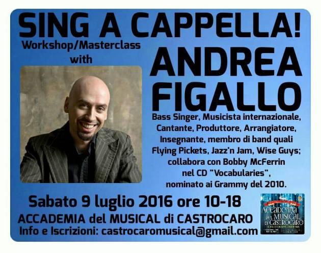ANDREA FIGALLO - Masterclass Luglio 2016