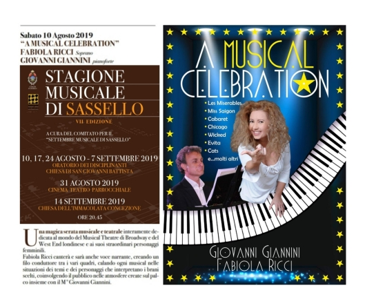 Foto A MUSICAL CELEBRATION - Locandina SASSELLO - Agosto 2019