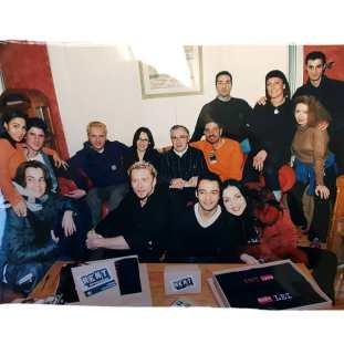 """Il Cast Originale Italiano di """"RENT"""" con il padre dell'Autore, Jonathan Larson, e la Produttrice Nicoletta Mantovani"""