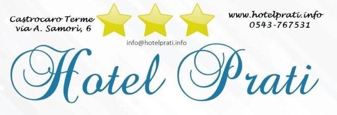 LOGO HOTEL PRATI con stelle e dati email